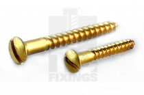 Raised Head Brass Woodscrews