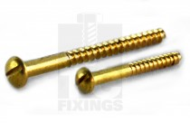 Round Head Brass Woodscrews