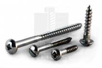 Round Head Stainless Steel Woodscrews