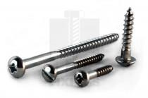Round Head Stainless Steel Woodscrews