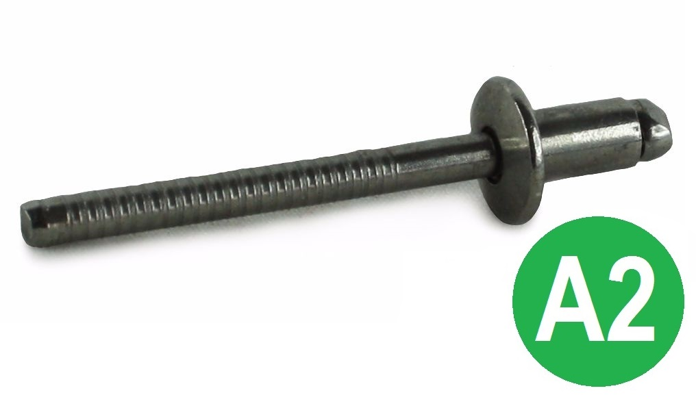 3.2 x 14mm A2 Blind Dome Head Rivets