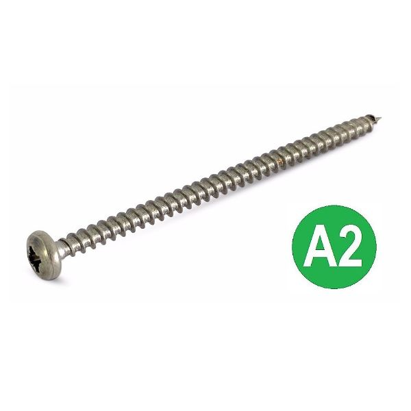 4x60 A2 Pozi Pan Chipboard Screw