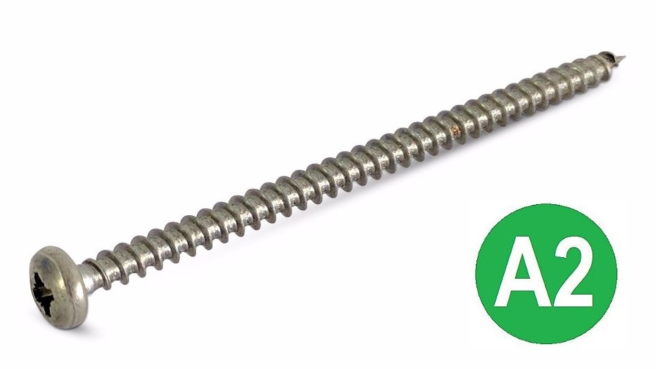 4x70 A2 Pozi Pan Chipboard Screw