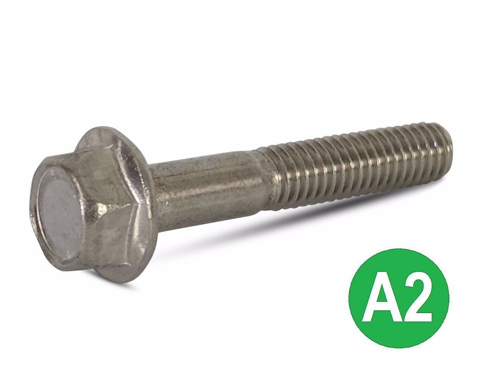 M6x25 A2 Hexagon Flange Head Bolt DIN 6921