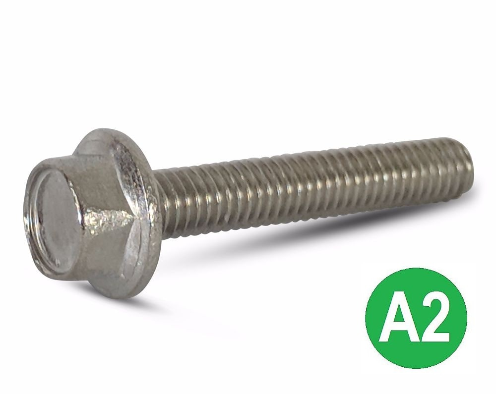 M8x25 A2 Hexagon Flange Set Screw DIN 6921