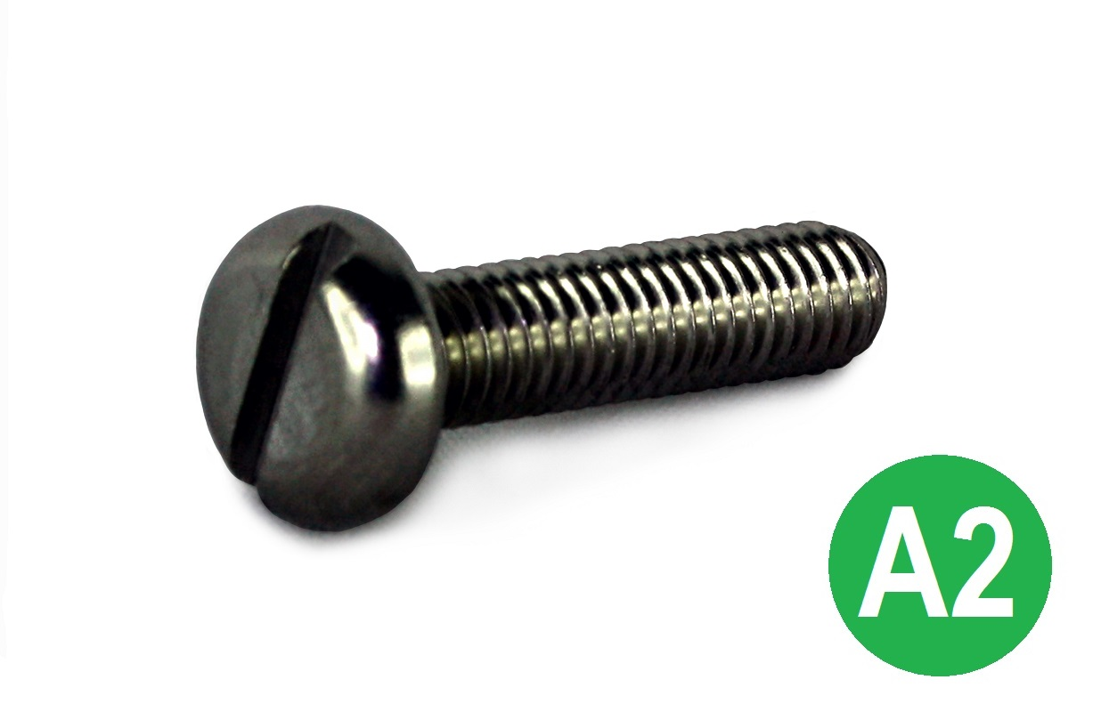 M6x20 A2 Slot Pan Machine Screw DIN 85