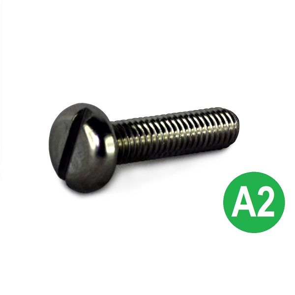 M8x10 A2 Slot Pan Machine Screw DIN 85