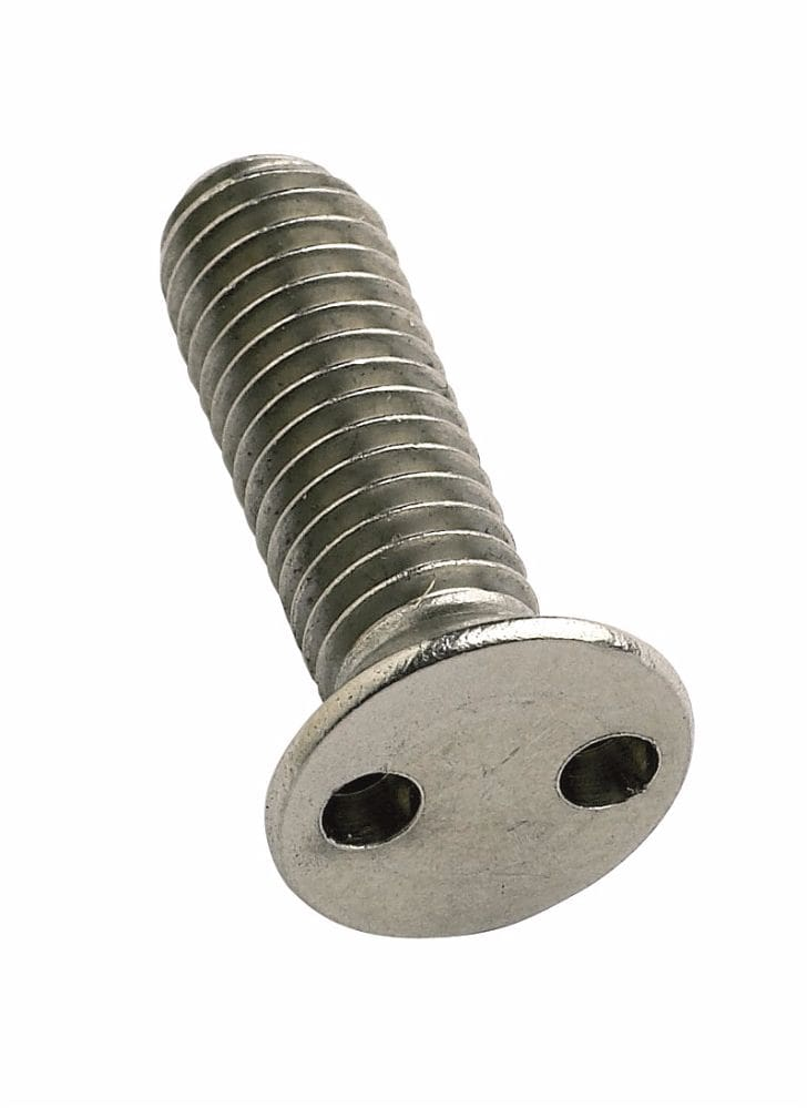 M6x25mm TH8 Two-Hole A2 Countersunk Screw