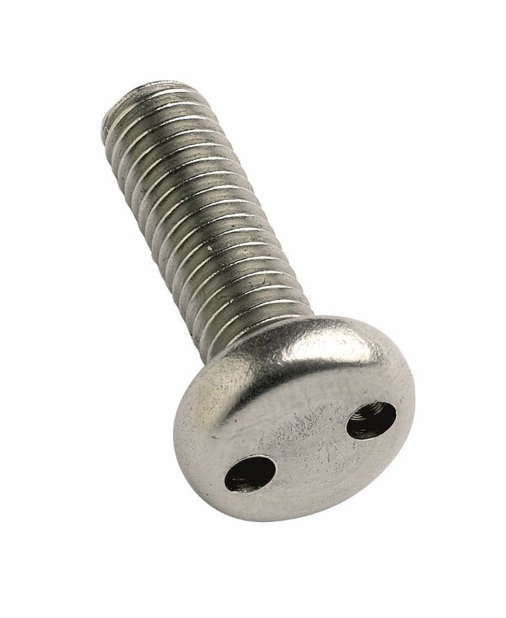 M5x25mm TH6 Two-Hole A2 Pan Head Screw
