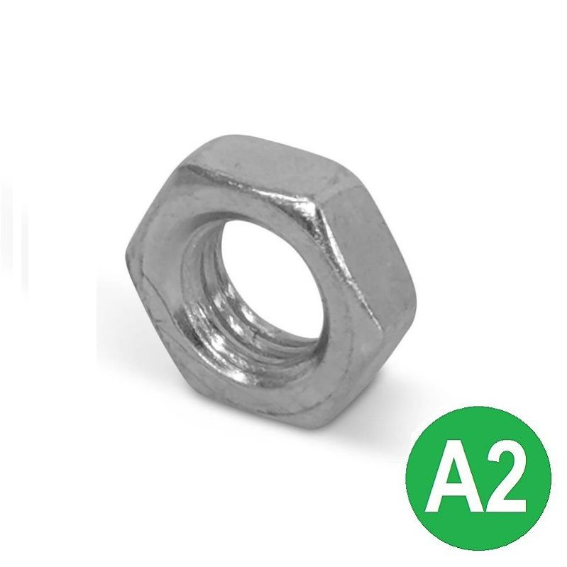 M6 A2 Half (Lock) Nut DIN 439B