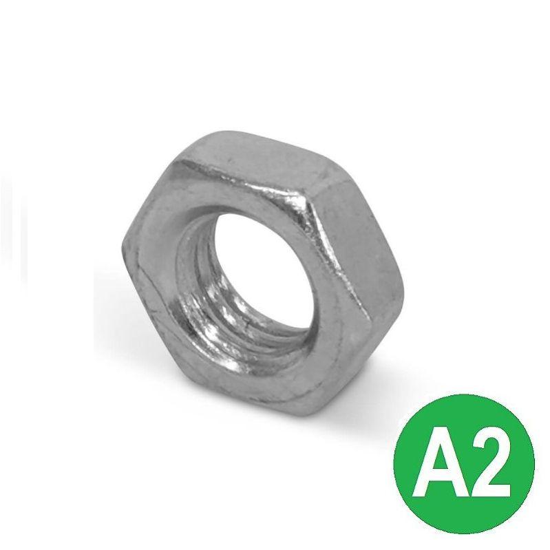 M8 A2 Half (Lock) Nut DIN 439B
