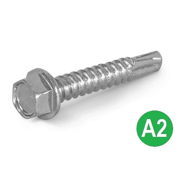 4.8x25mm A2 Hex Head Self Drilling Tek Screw