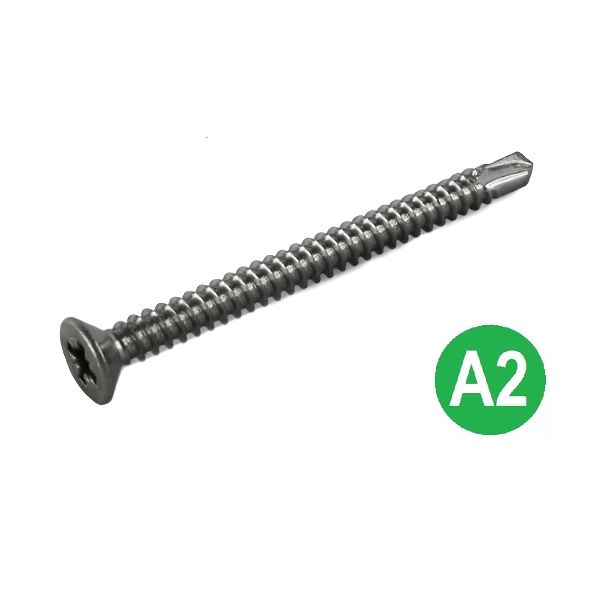4.2 x 50mm A2 Pozi Csk Self Drilling Screws