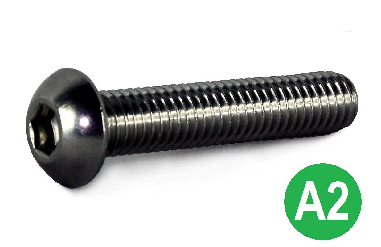 M8x30 A2 Socket Button Head Screw ISO-7380