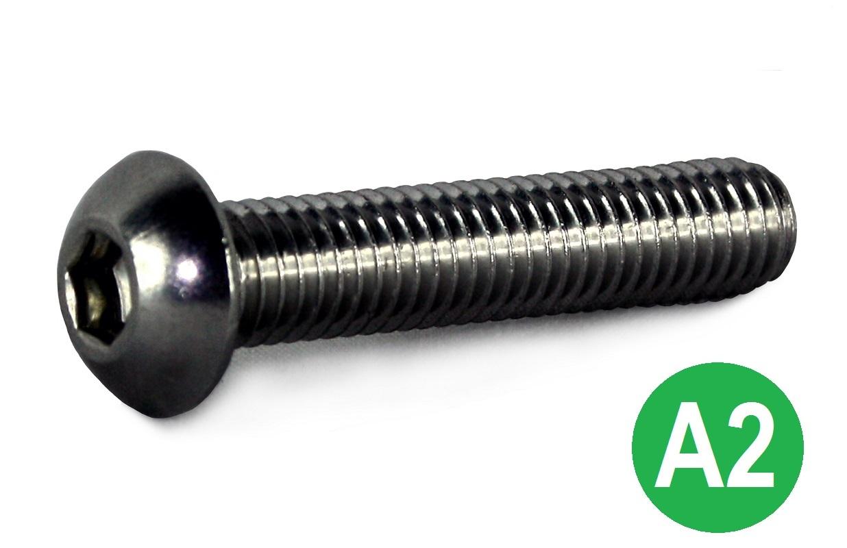 M8x50 A2 Socket Button Head Screw ISO-7380