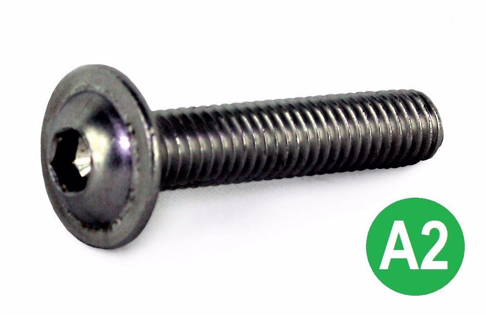 M6x20  A2 Socket Button Flange Head Screw