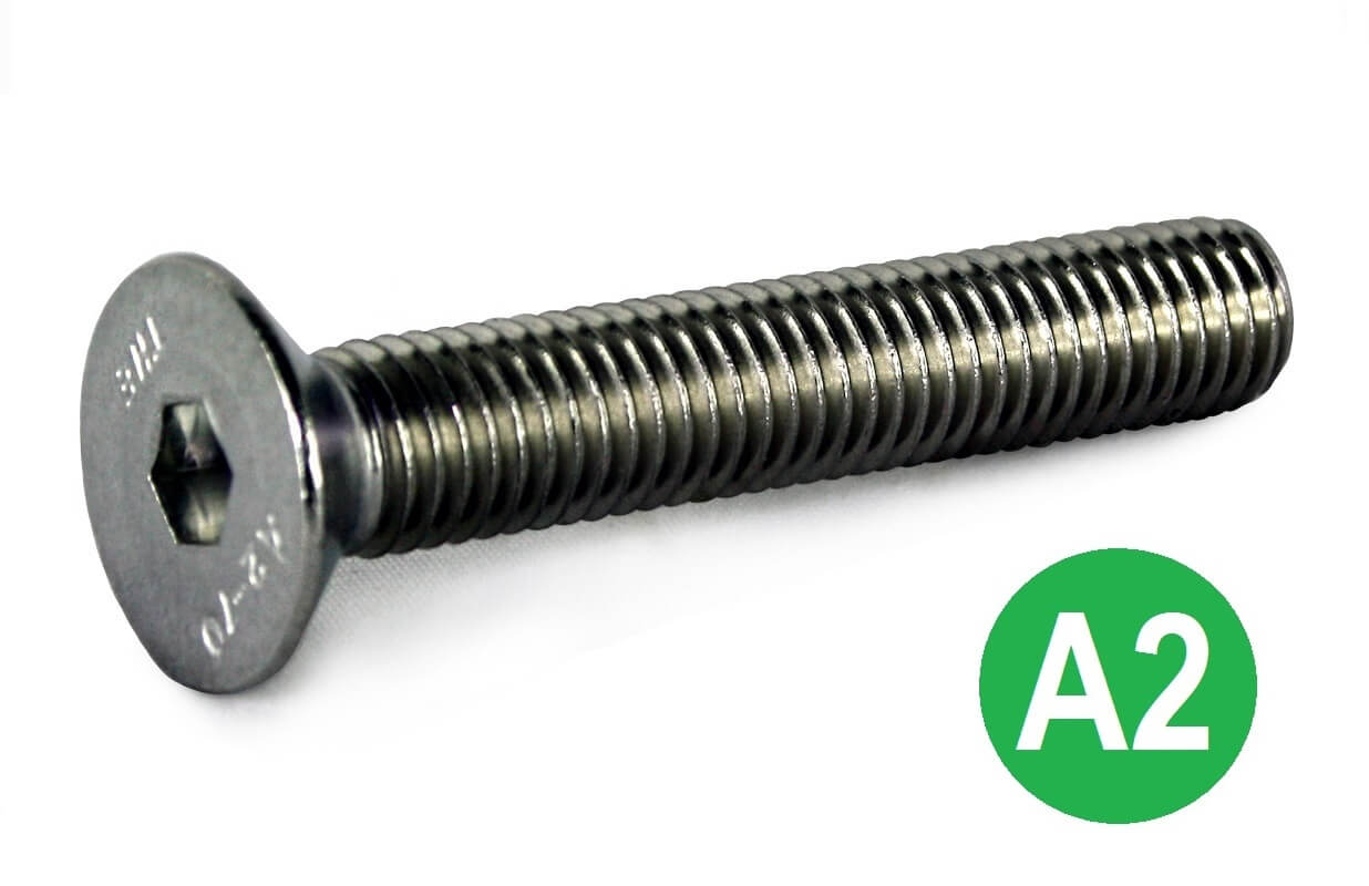 M2.5x10 A2 Socket CSK Head Screw DIN 7991