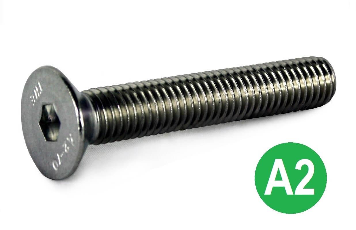 M12x16 A2 Socket CSK Head Screw DIN 7991