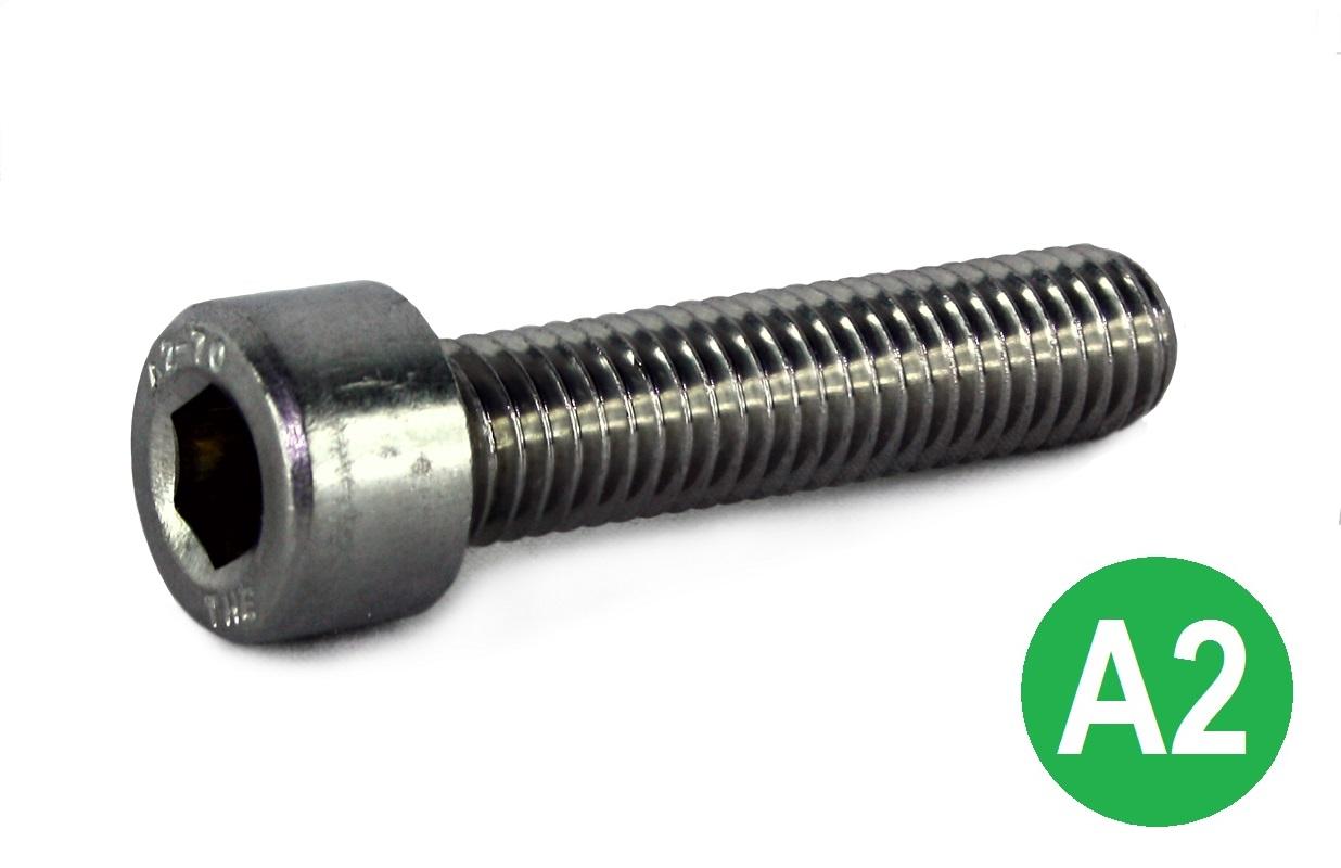 8-32 UNC x 1/2 A2 Socket Cap Head Screw