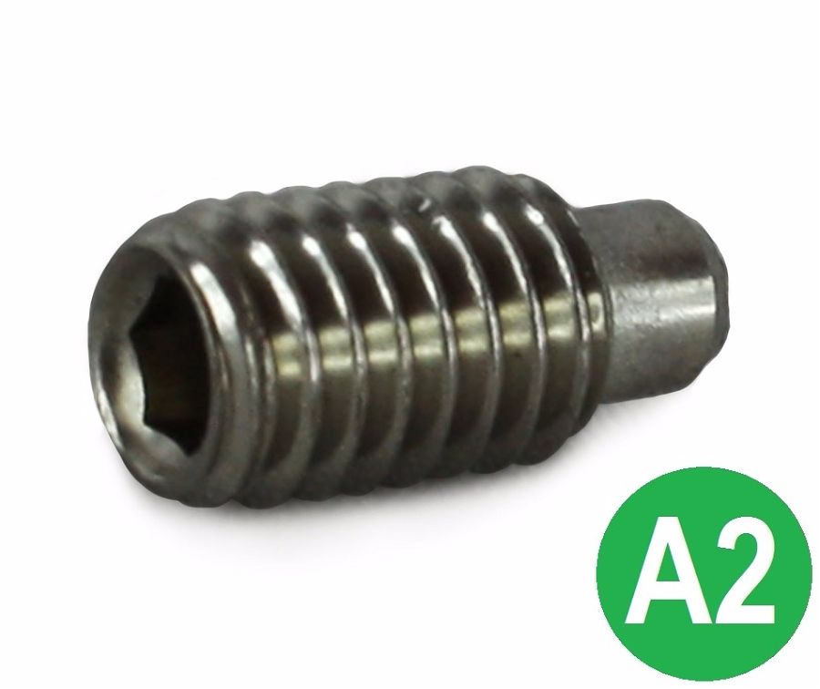 M6x12 A2 Dog Point Socket Set Screw DIN 915