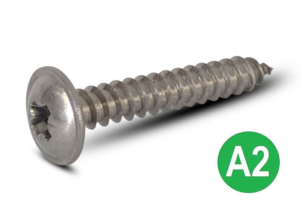 "4.2 x 16mm 8 x 5//8/"" STAINLESS STEEL POZI PAN HEAD SELF TAPPING SCREWS"