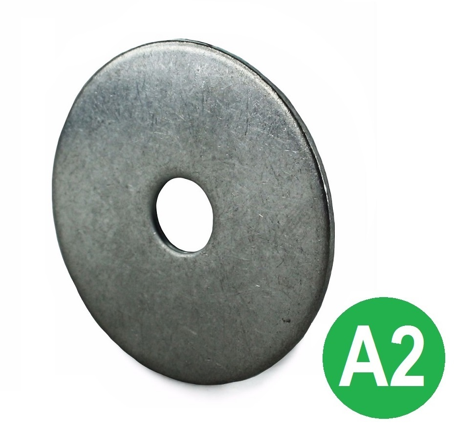 M8x40mm Penny Washers BZP