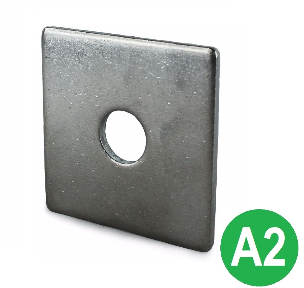M10x40x3mm Square Plate Washers