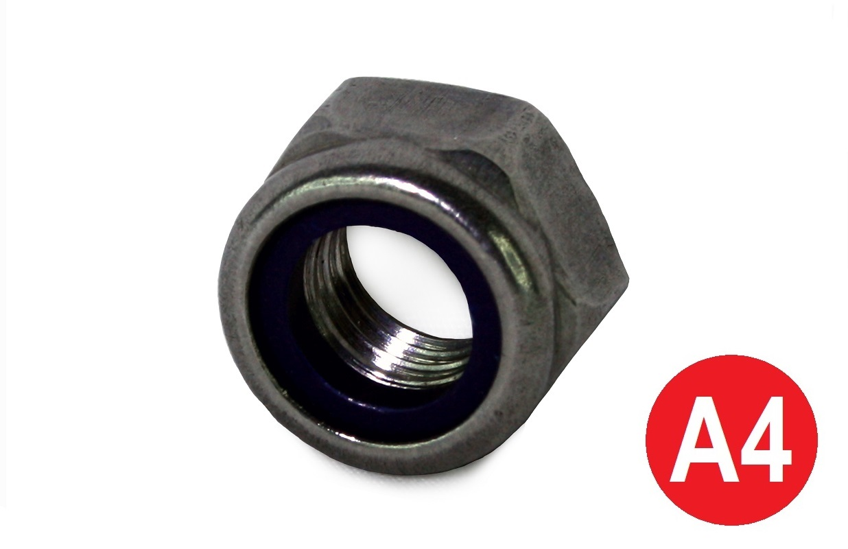 M8 A4-80 Type T Stainless Nyloc Nut DIN 985