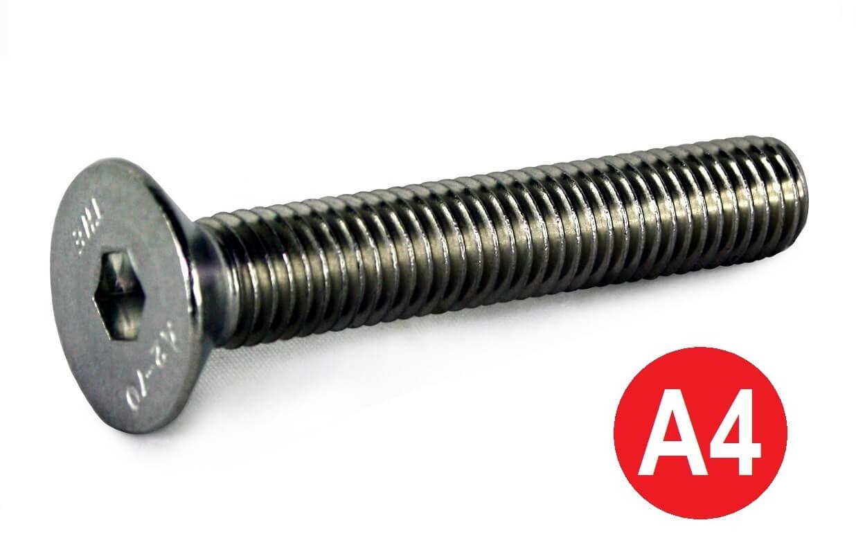 M10x16 A4 Socket Countersunk Screw DIN 7991