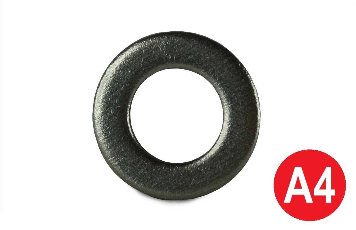 M12 A4 Form A Flat Washer DIN 125A