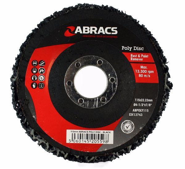 Abracs Poly Disc Black 115 x 22mm Medium