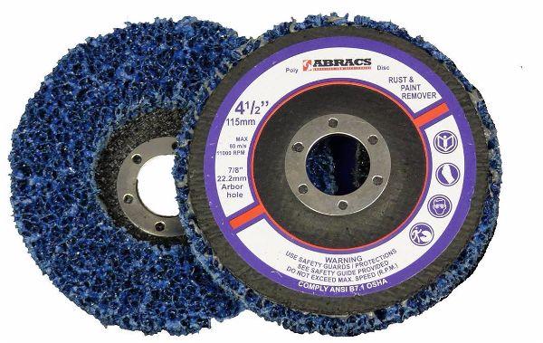Abracs Poly Disc Blue 115 x 22mm Coarse