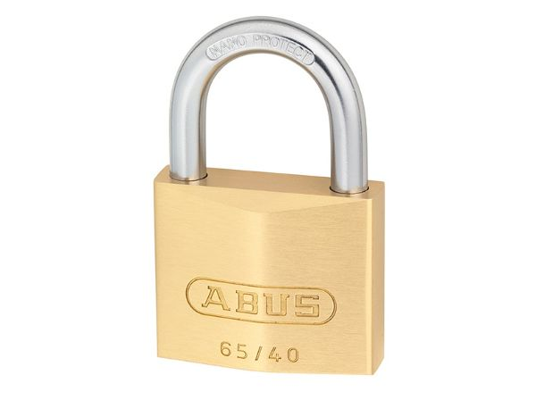Abus 65/40 40mm Brass Padlock Twin Pack