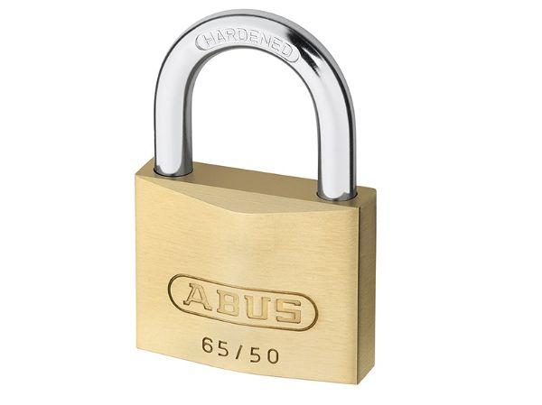 Abus 65/50 50mm Brass Padlock Twin Pack