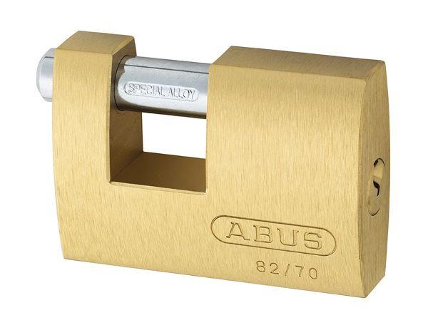 Abus 82/70 70mm Brass Shutter Padlock