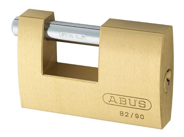 Abus 82/90 90mm Brass Shutter Padlock