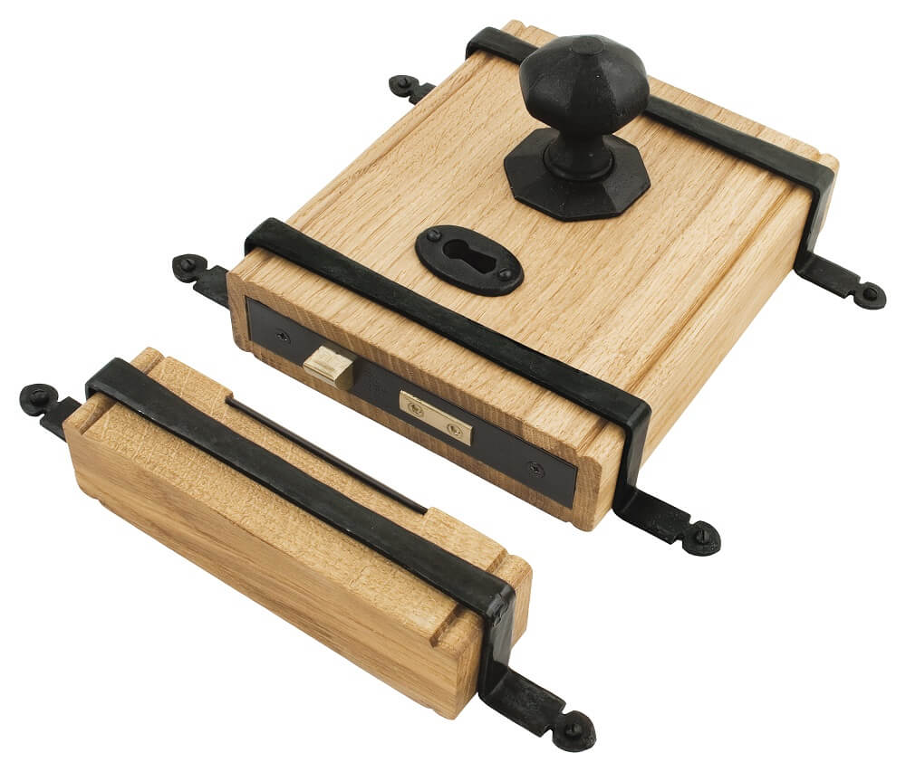 Anvil 33005 Black Oak Box Lock + Oct. Knob