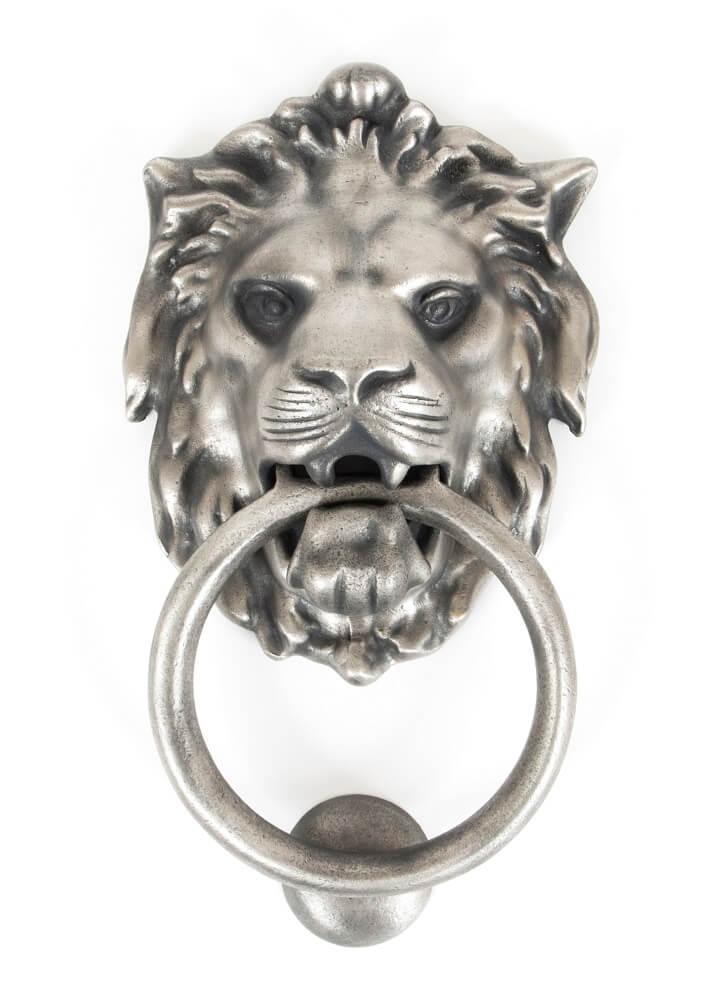 Anvil 33019 Antique Pewter Lion Head Knocker