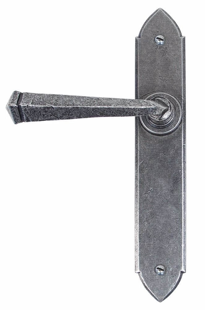 Anvil 33601 Pewter Gothic Lever Latch Set