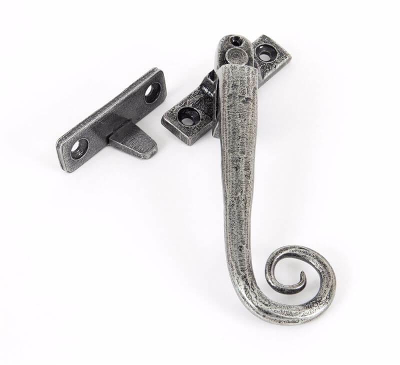 Pewter Shepherds Crook Fastener Rh Locking: Anvil 33619 Pewter N/Vent Locking Fastener RH