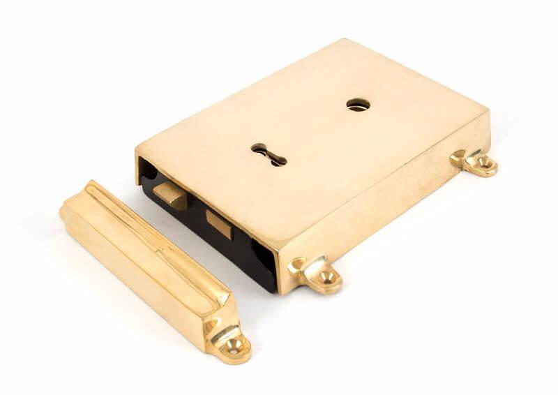 Anvil 35000 Pol. Brass Rim Lock   Cover