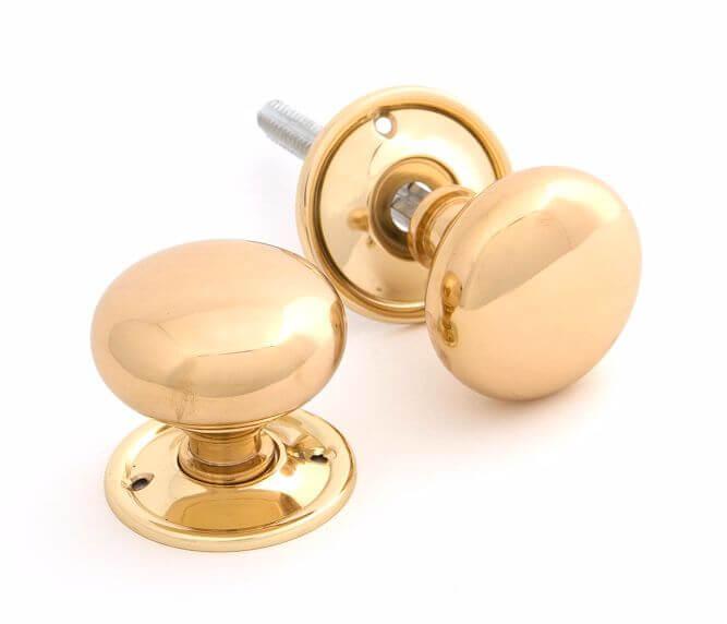 Anvil 83564 Brass Mushroom Mortice/Rim Knobs