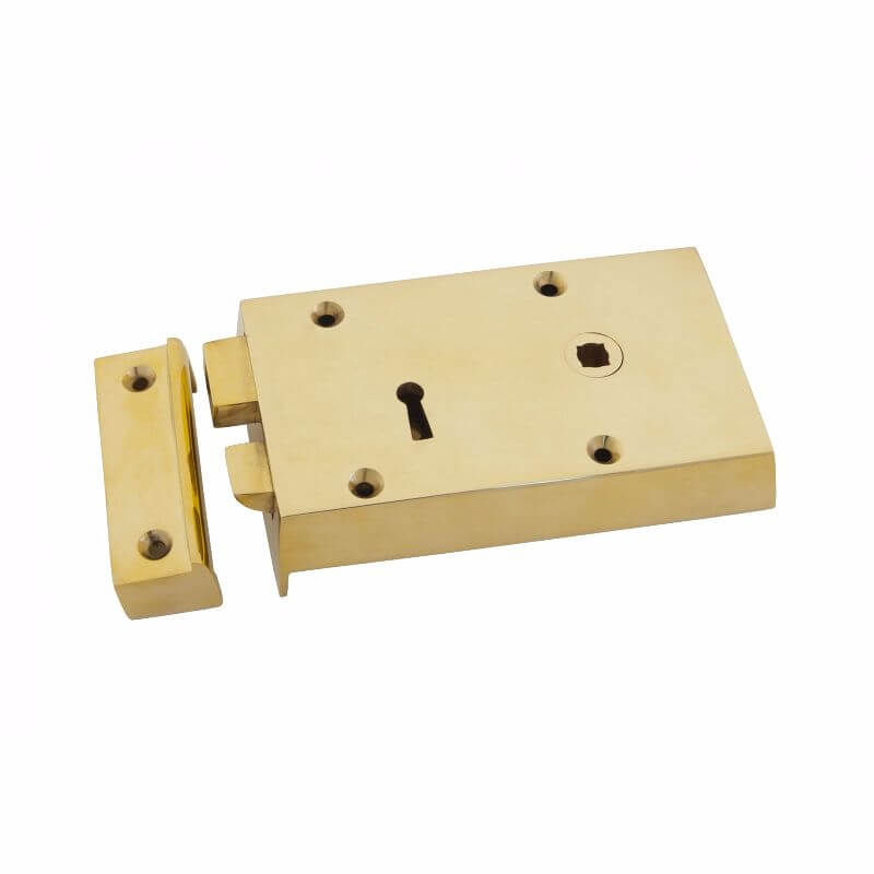 Anvil 83580 Brass Right Hand Rim Lock Small
