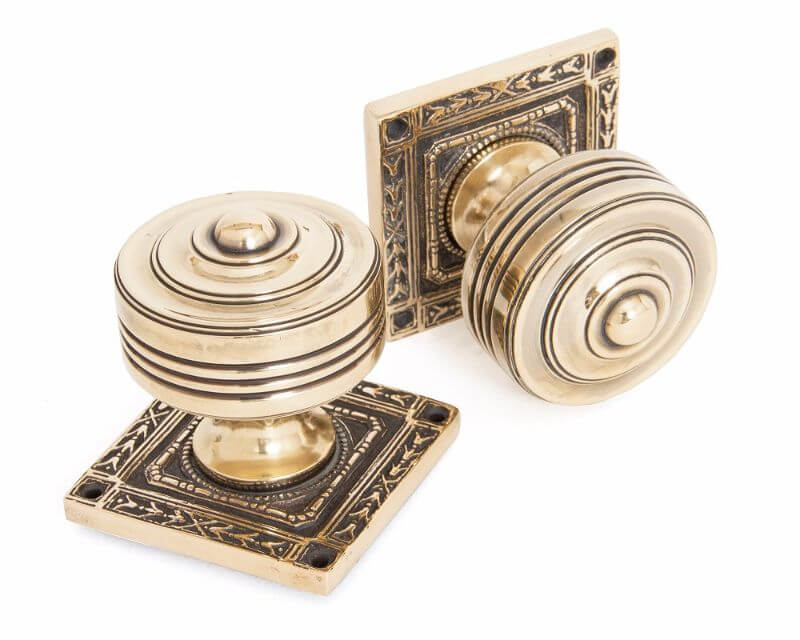 Anvil 83860 Aged Brass Square Mortice Knob