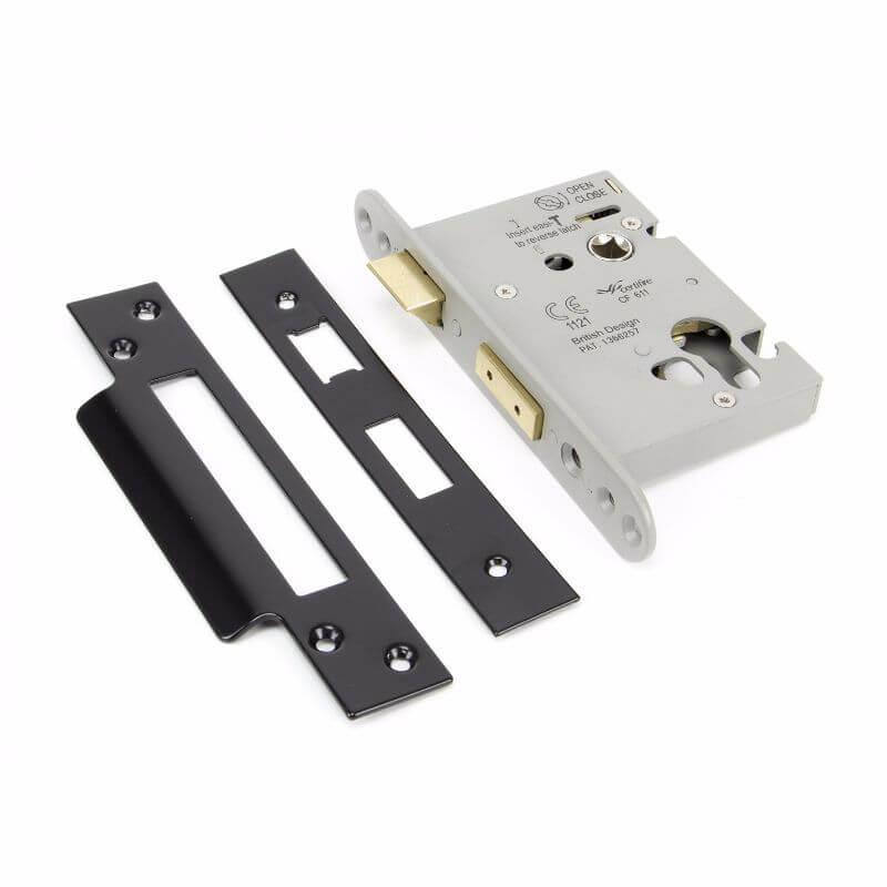 Anvil 90056 Black 3 in. Euro Sash Lock