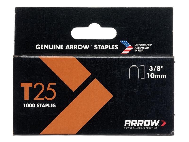 Arrow T25 Staples 10mm (3/8in) Box 1000