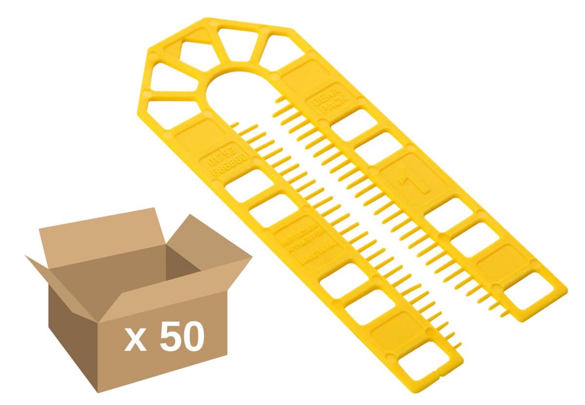 Broadfix Large Plastic Shims Yellow 1mm (50)
