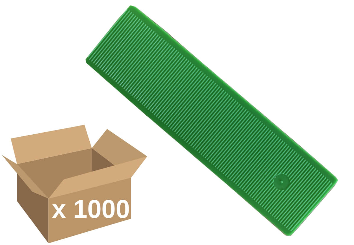 Broadfix Flat Glazing Shims Green 1mm (1000)
