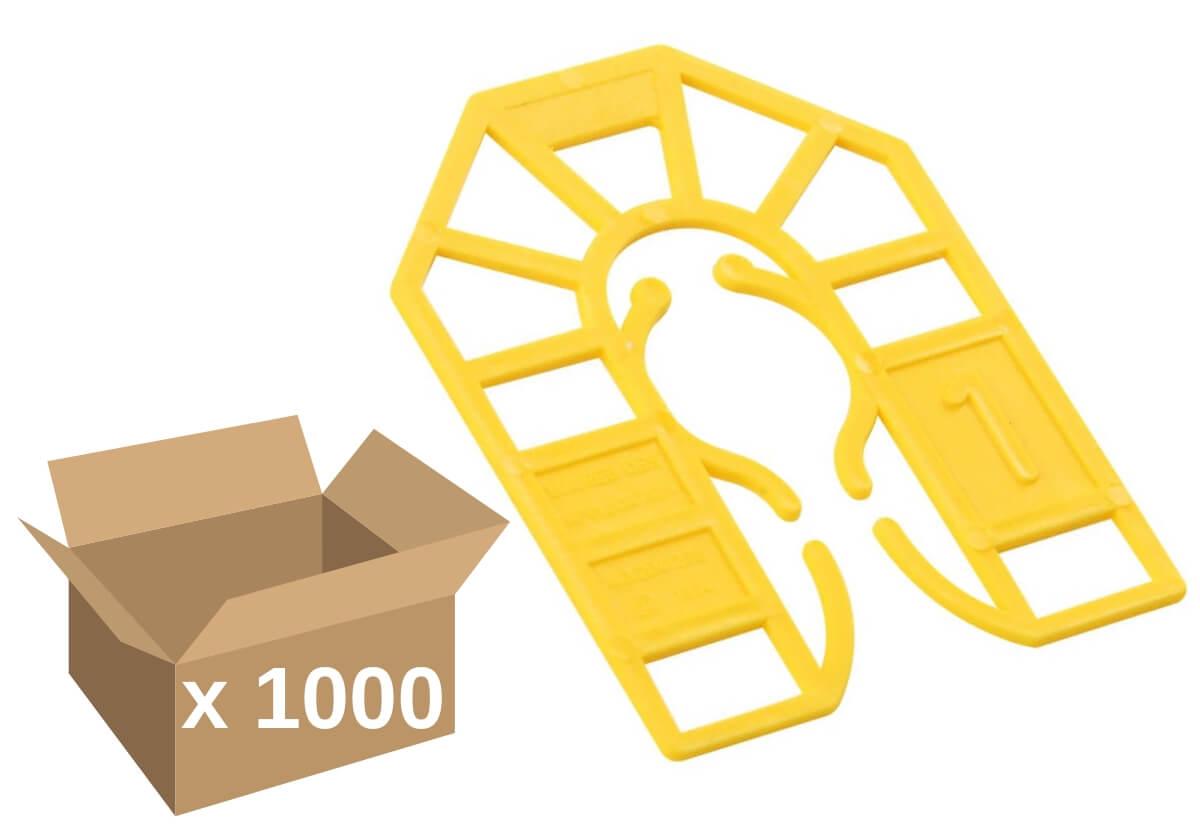 Broadfix Small Plastic Shims Yell. 1mm (1000)