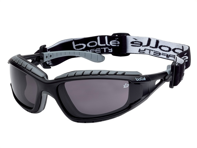 BOLLE Tracker Safety Glasses Vented Smoke